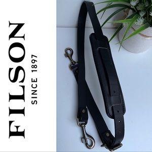 FILSON🔴Black leather strap nwot